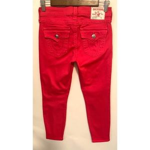 True Religion size 26 hot pink jeans